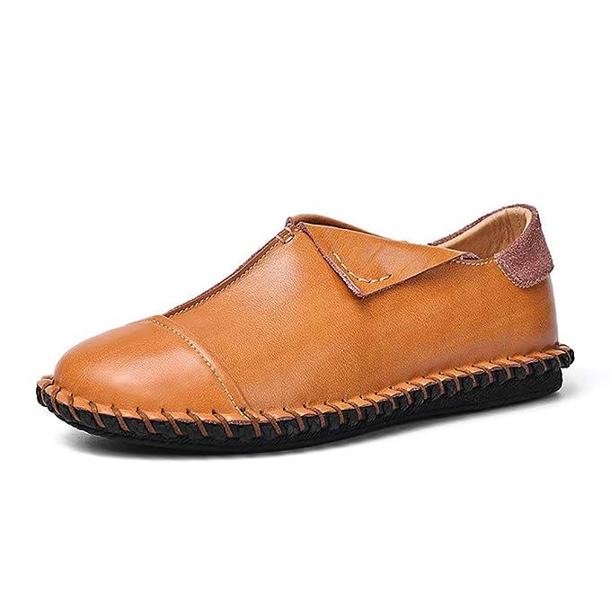 FHTD Zapatos De Cuero Para Hombres Mocasines Y Slip-Ons De Primavera Zapatos De Conducción Oxfords: Amazon.es: Ropa y accesorios
