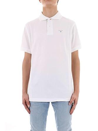 Barbour BAP0L0119WH11 - Polo de algodón para hombre, color blanco ...