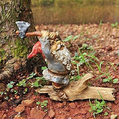 Top Collection Miniature Fairy Garden and Terrarium Garden Gnome Chopping Wood : Garden & Outdoor