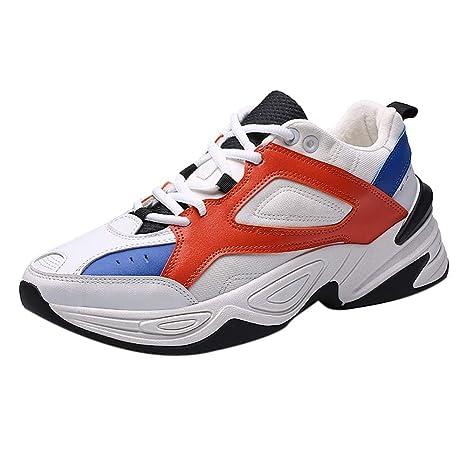 LuckyGirls Zapatillas de Correr Casual Color Mezclado Calzado de Deportivas Moda Zapatos de Running Bambas de