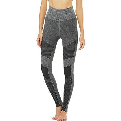 7b4e2646e5b19 Alo Yoga High-Waist Seamless Moto Legging - Women's Anthracite Heather, ...
