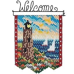 Herrschners Autumn Lighthouse Beaded Banner Kit