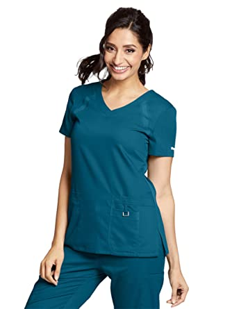 Amazon.com  Grey s Anatomy Active 41447 Women s 3 Pocket Knit Side ... 29c562204108