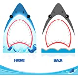 Shark Photo Booth Frame Shark Zone Party Selfie Photo Props for Shark Theme Birthday Party Decorations Baby Shower Cutout Frame