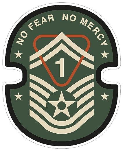 Amazon com: Military No Fear No Mercy guns army symbol love