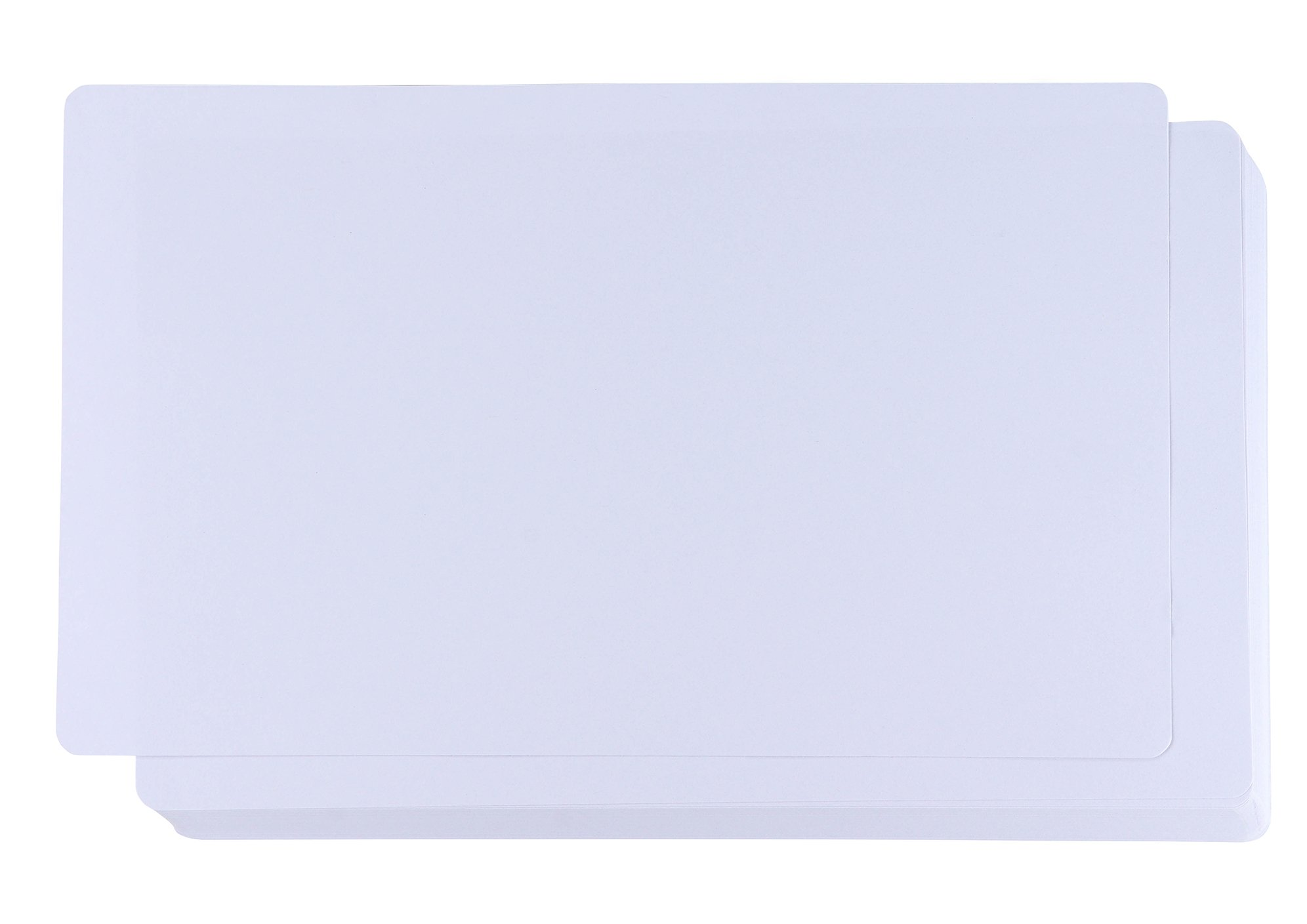 White Cardstock - 60-Pack 150GSM White Card Stock Paper with Rounded Corners, Blank Sheets for Award Certificates, Legal Sized, 8 x 14 inches