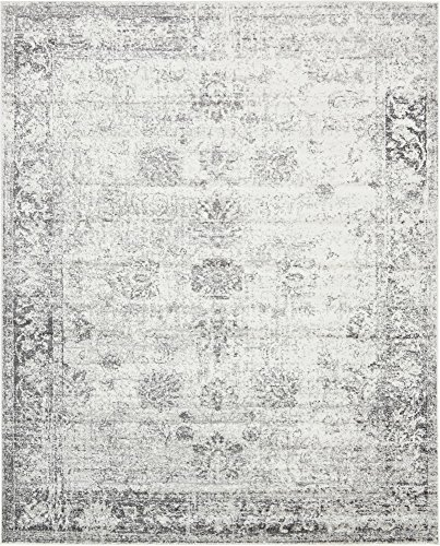 Unique Loom 3134033 Sofia Collection Traditional Vintage Beige Area Rug, 8' x 10' Rectangle, - White Rug Accent Transitional