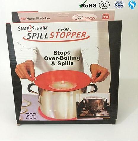 Tapón de tapa de derrames para ollas y sartenes, protección para sobre-ebullición y