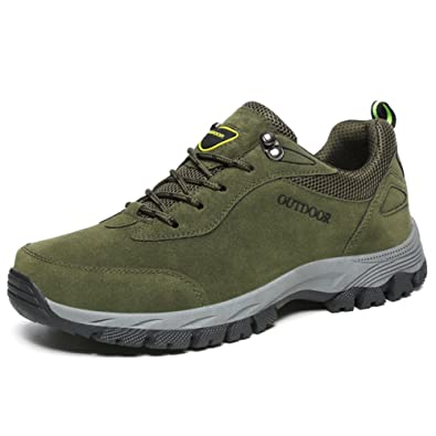 fereshte Mens Outdoor Sport Sneaker Backpacking Boots Mountaineering Hiking Shoes A# Army Green EU39