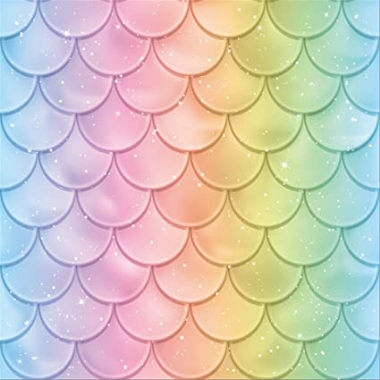 LFEEY 6x6ft Beautiful Fish Scales Photo Backdrop Spectrum Color Mermaid Tail Texture Photography Background Birthday Party