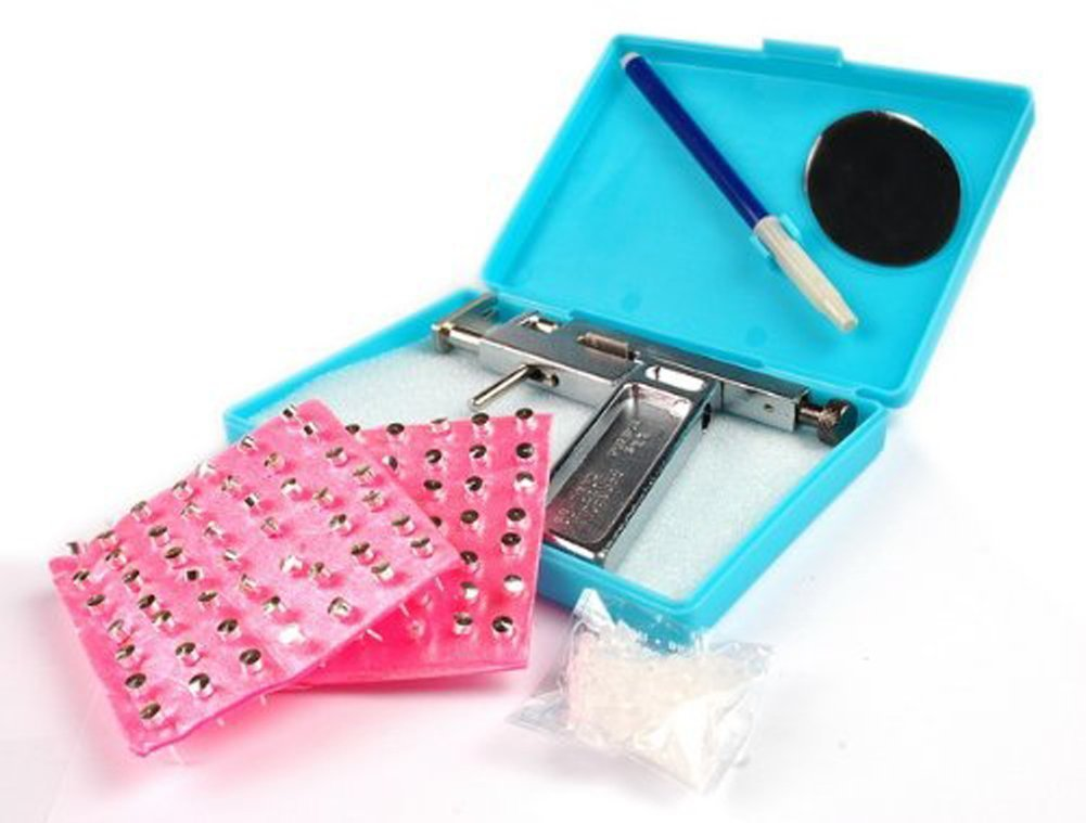 Amazon.com : Ear Nose Navel Body PIERCING GUN Tool Kit Free 98 studs ...