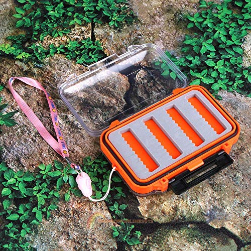 Agordo Double Side Waterproof Plastic Fishing Lure Bait Hook Tackle Box Storage Case