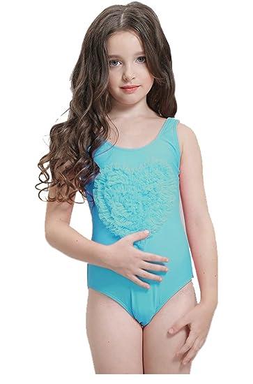 9b056b2b720 Amazon.com: Greenery-GRE Little Girls One Piece Swimsuit Lace Ruffle  Swimwear Beach Bathing Suit For Toddler Kids 5-8 Years: Clothing