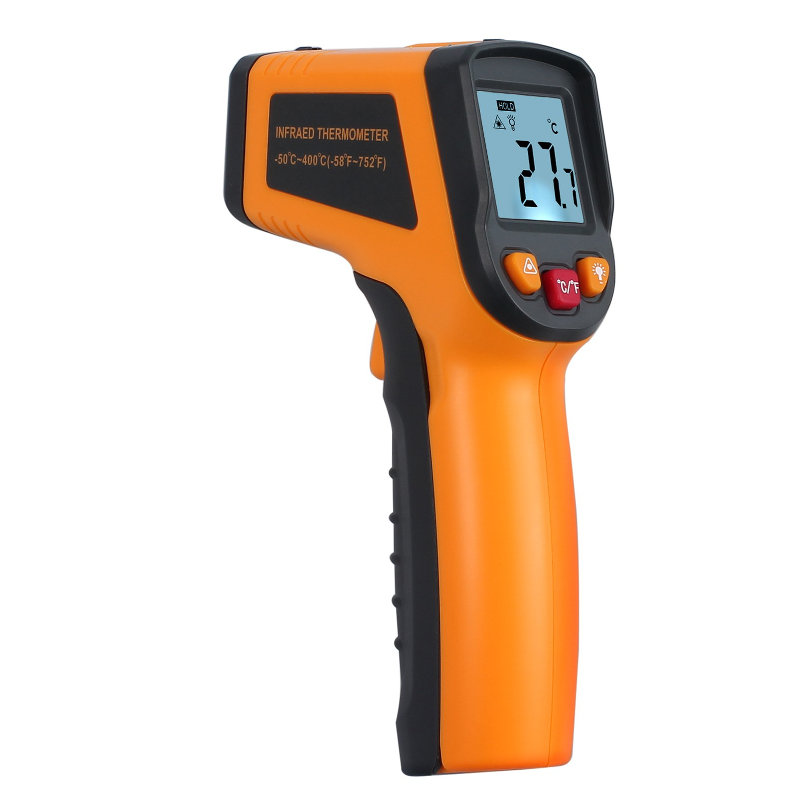 Proster Infrared Kitchen Thermometer Gun Digital Laser Thermometer Non-Contact Cooking IR Temperature Thermometer Gun Instant-read Range -58℉~752℉ / -50℃ ~ 400℃ for Kitchen Cooking by Proster