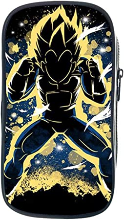 Twhoixi Dragon Ball Z Goku Funda de lápiz de Doble Capa Niños Niñas Estudiantes Estuche Escolar Papelería Niños Bolso de Pluma para Regalo de niños: Amazon.es: Equipaje