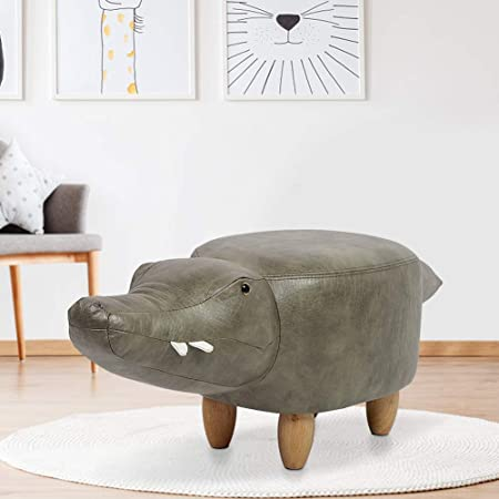 YAOJP Childrens Animal Shoe Bench Solid Wood Home Sofa Footstool Fashion Creative Low Stool Withstand Weight 150Kg,Elephant//Brown