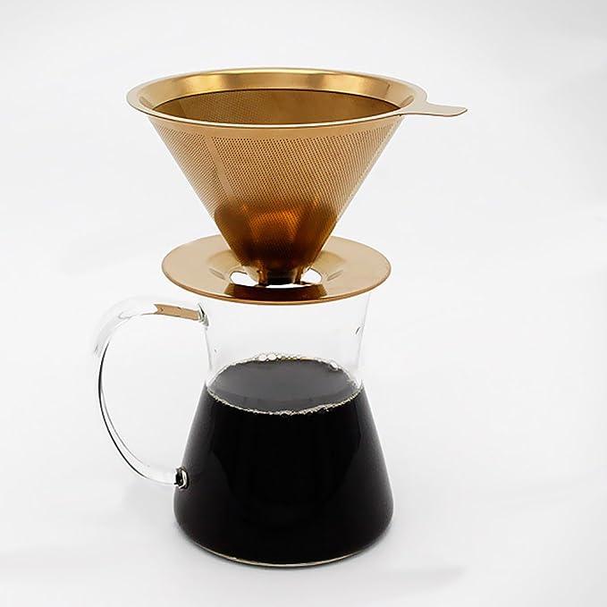 aus Holz B Blesiya Retro Filtert/ütenbeh/älter Filtert/ütenhalter Kaffeefilterhalter Halter