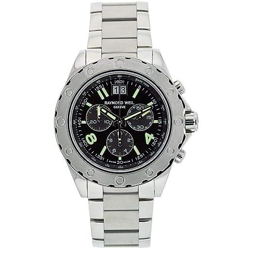 Raymond Weil Sport Reloj de Hombre Cuarzo 44mm Correa de Acero 8500-ST05207: Amazon.es: Relojes