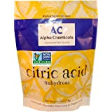 Non-GMO Project Verified - Citric Acid - 5 Pounds - Organic, 100% Pure - Alpha Chemicals