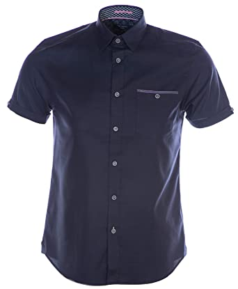 65cdcec0 Amazon.com: Ted Baker Wallaby Short Sleeve Shirt in Navy: Clothing