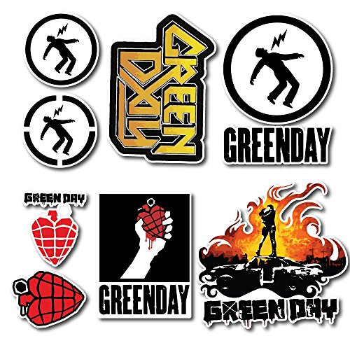Green Day Sticker Set Pack Rock Band Decal for Car Window, Bumper, Laptop, Skateboard, Wall, ETC. Set-005 - Green Day Stickers