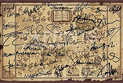Harry Potter Wizarding World Cast Signed Poster Photo JK Rowling Daniel  Radcliffe Emma Watson Alan Rickman Pre-Printed Autographs 12x8\