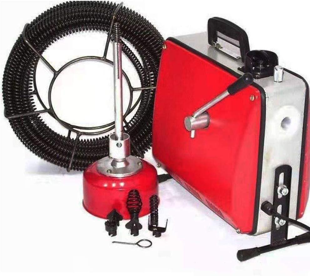Cacoffay desatascador eléctrico máquina de Limpieza de Drenaje 220 ...