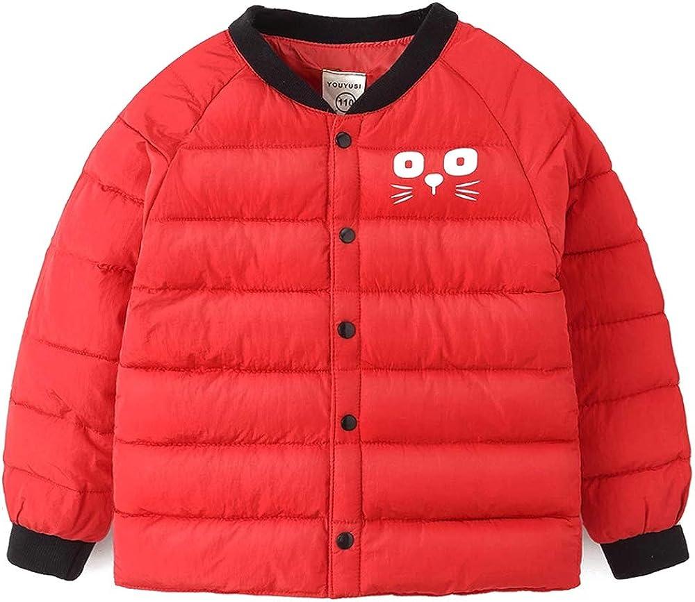 BOZEVON Girls and Boys Outerwear Cotton Bear Pattern Coats Thick Jacket