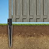 Pylex 13014 Ecospike Ground Spike, Black