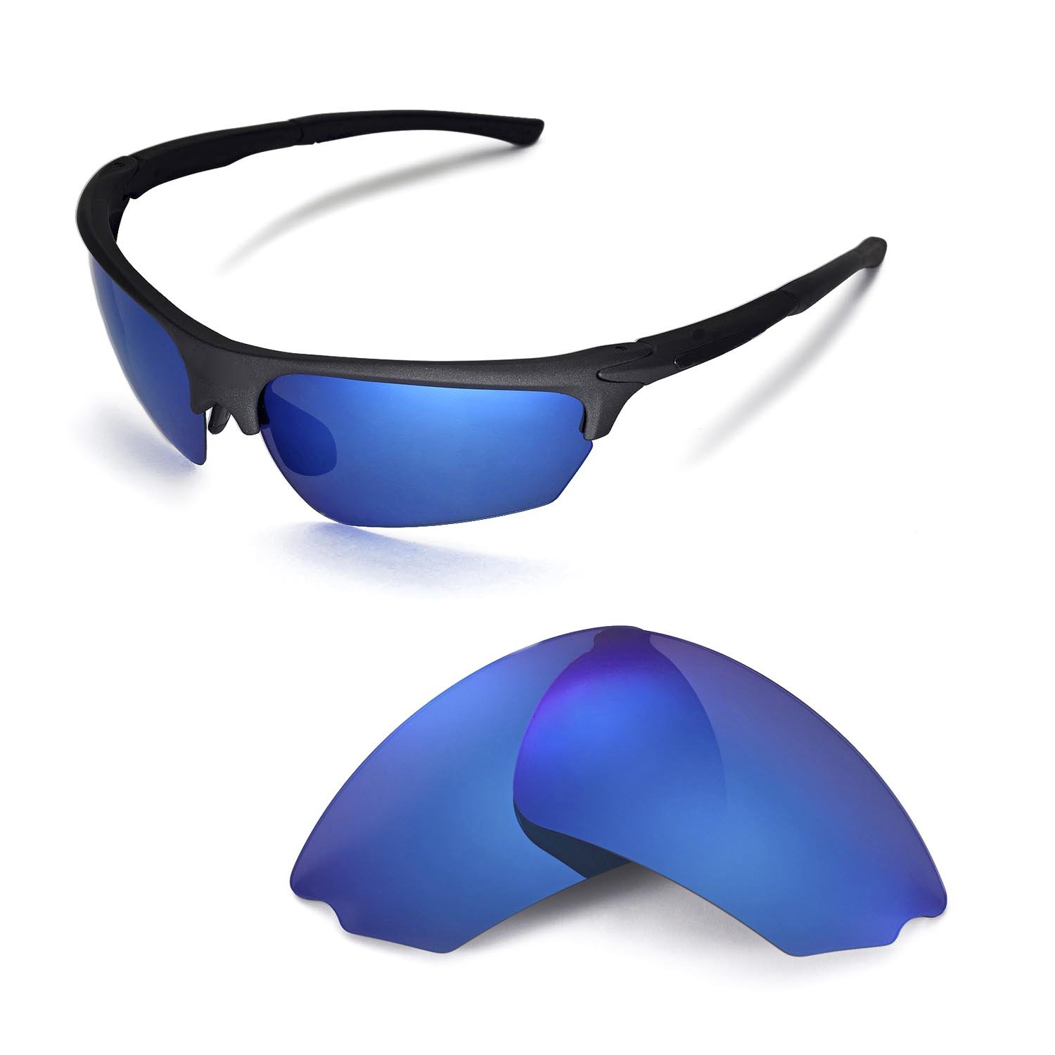 f18f7e392b Amazon.com   Walleva Replacement Lenses for Rudy Project Noyz Sunglasses -  Multiple Options Available(Black - Polirazed)   Sports   Outdoors