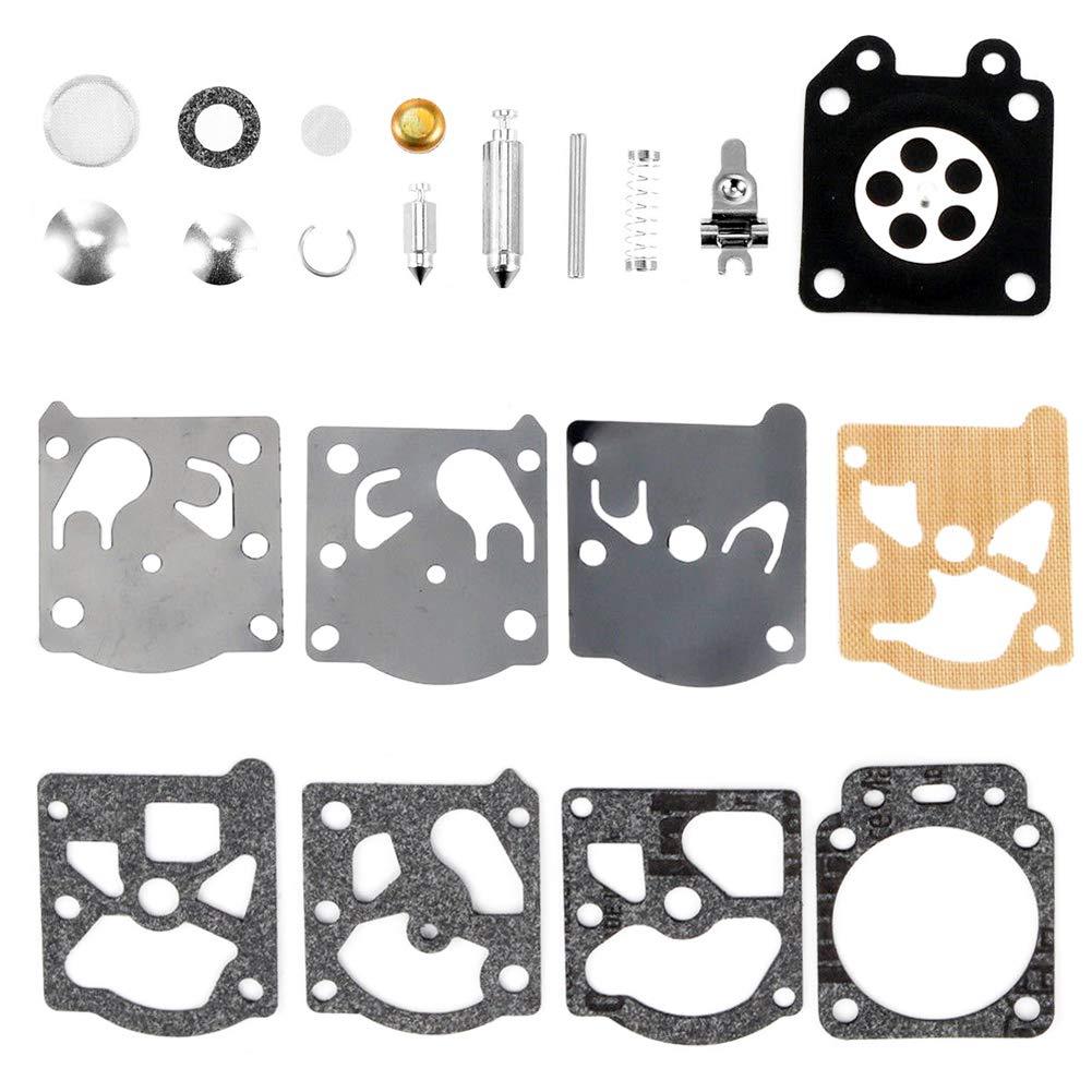 QAZAKY Carburetor Diaphragm Gasket Rebuild Repair Kit for Walbro K24-WAT WT Carb Poulan Weedeater Ryobi Ryan IDC Homelite Lawnboy Toro McCulloch Stihl