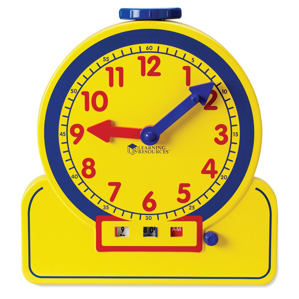Learning Resources Primary Time Teacher 12-Hour Learning Clock