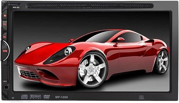 Lacaca 17 8 Cm 1269 Doppel Din In Dash Auto Stereo Head Unit Dvd Cd Mp4 Usb Sd Am Fm Bluetooth Touchscreen Player Mit Rds Radio Tuner Aux Fernbedienung Freisprecheinrichtung Auto