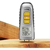 Humidimètre numérique de bois ,2 broches Digital LCD Détecteur d'humidité du bois pour bois de chauffage, cloison sèche, plancher, bûches, plantes, matériau de construction