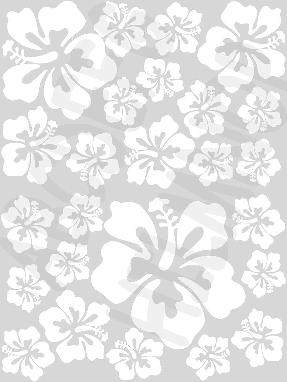 Rosa Decalcomanie E Adesivi Aws Stickers Set Da 25 Fiori Ibisco