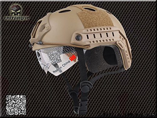 CASQUE MILITAIRE Combat Casque Casque Tactical airsoft EMERSON FAST PJ type e Goggle bronzage Military Outdoor