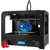 Schwarz 3D Drucker, Dual-Extruder Desktop Rapid Prototyping 3D-Drucker 3D Printer Inklusive 1x 1,75 mm ABS/PLA Filament