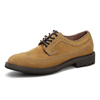 1bcc2a546b Amazon.com | Merry-Land Men's Casual Suede Classic Lace Up Oxford ...