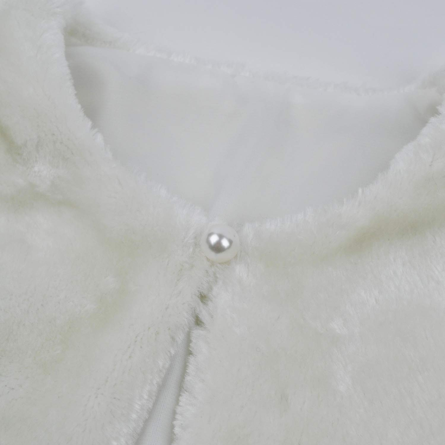 Abbyabbie.Li Girls Princess Faux Fur Bolero Shrug Long Sleeve Girl Dress Coat for Party Wedding