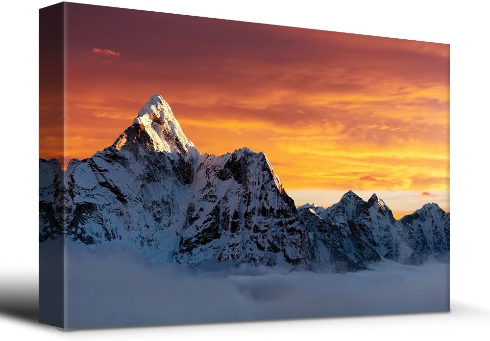 AMA Dablam on The Way to Everest - Canvas Art Home Art - 12x18 inches