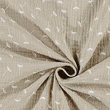 V/êtements b/éb/é et Beige /— Vendu au m/ètre /à 0,5m /— Oeko-Tex Standard 100 Classe de Produit II /— pour Coudre V/êtements Enfant Fabulous Fabrics Mousseline//Tissu Double cr/êpee Pissenlit 6