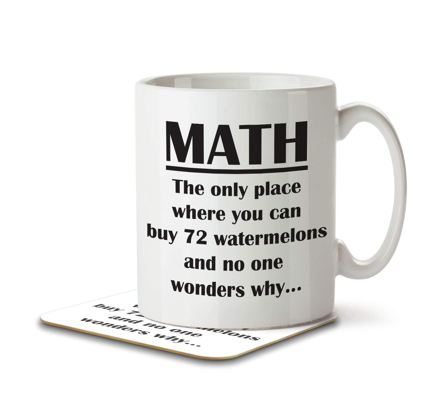 MNC/_FUN/_014 3 Out of 2 People Have Trouble With Fractions Mug and Coaster