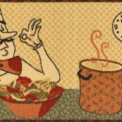 Ottomanson Siesta Collection Kitchen Chef Design (Machine-Washable/Non-Slip) Runner Rug, 20'' x 59'', Beige by Ottomanson (Image #3)
