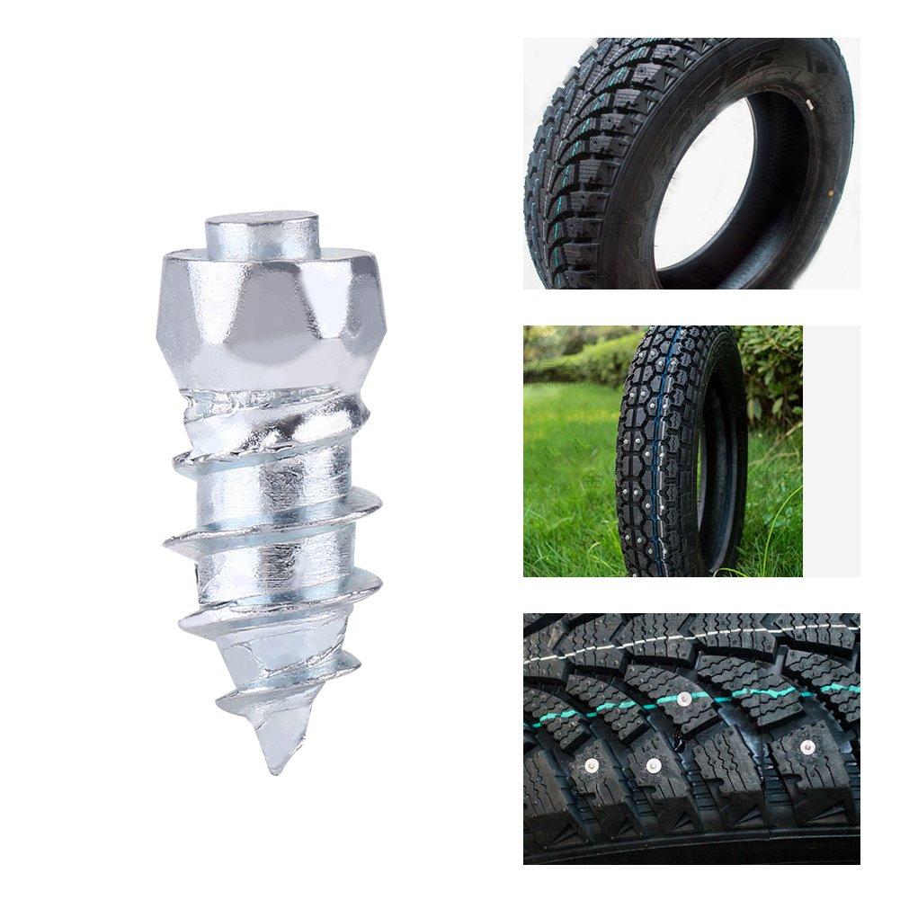 100 Pcs Snow Studs Screw Carbide Tips with Steel Body Anti-ice Anti-snow JX6*6-15 for Car//Truck//ATV