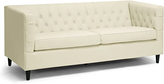Amazon.com: Baxton Studio Darrow Conjunto moderno sofá de ...