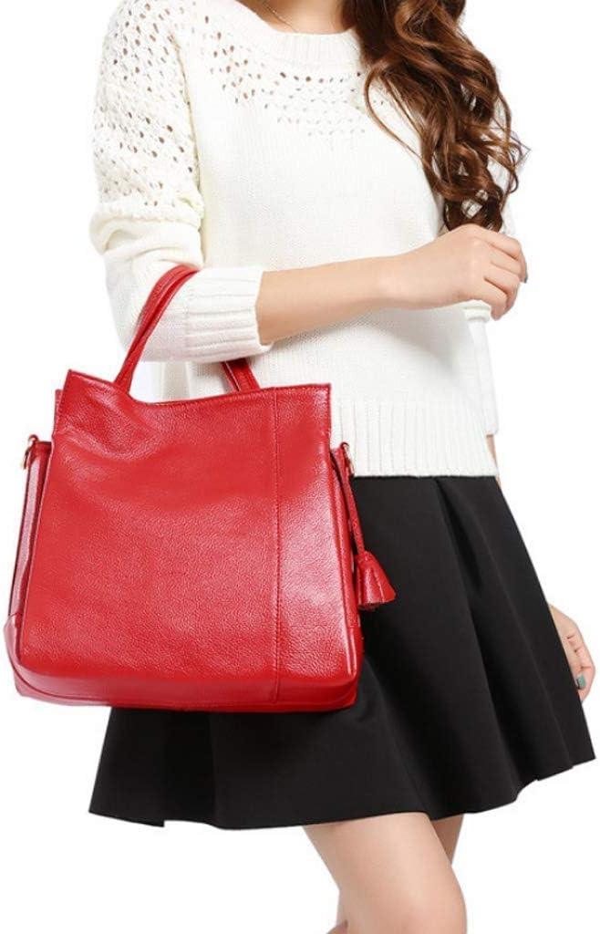 GZQDX Bellas, Bolso Elegante Minimalista Ocasional del Hombro del Bolso Salvaje Bolsa de Mensajero de Las señoras de Las Mujeres del Bolso de Gran Capacidad (Color : Black) Red ucxq0oXI