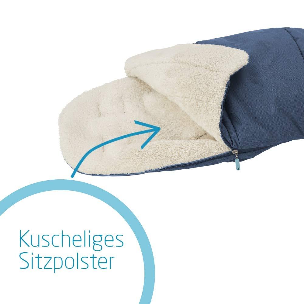 auch als Sitzpolster verwendbar geeignet f/ür alle Kinderwagen blau Maxi-Cosi kuschelig weicher 2-in-1 Fu/ßsack
