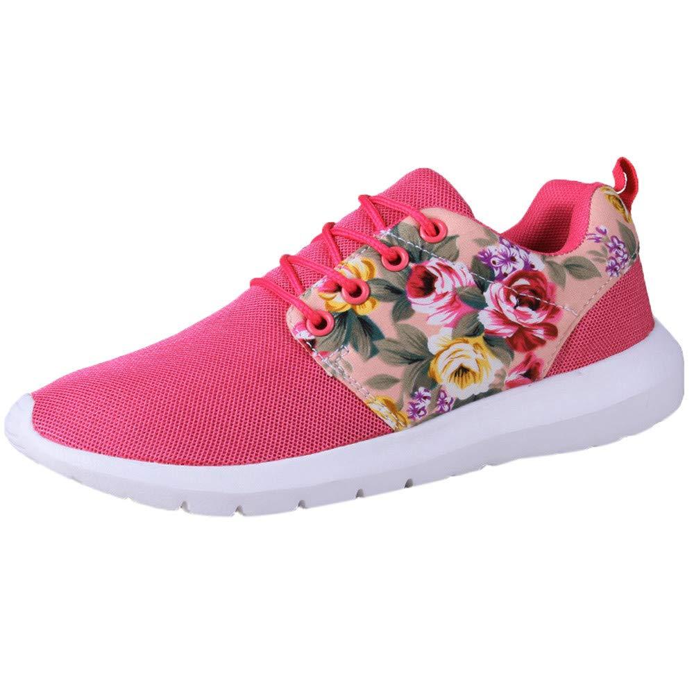 NINGSANJIN-Chaussures Femmes Running Respirant Mesh Casual Mesh Chaussures de Sport Casual Sport Rose Chaud 728de10 - deadsea.space