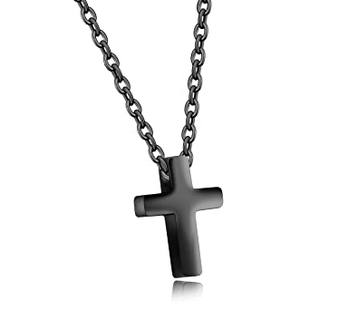 Amazon Com Lineave Women S Stainless Steel Small Simple Cross