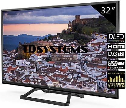 TD Systems Televisores LED 32 Pulgadas K32DLM10H. 2X HDMI, VGA, USB Grabador Reproductor, DVB-T2/C/S2: Amazon.es: Electrónica
